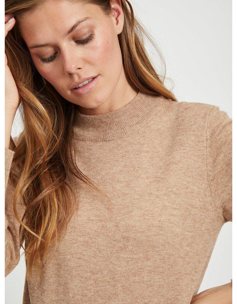Object Knit dress thess  lichtbruin