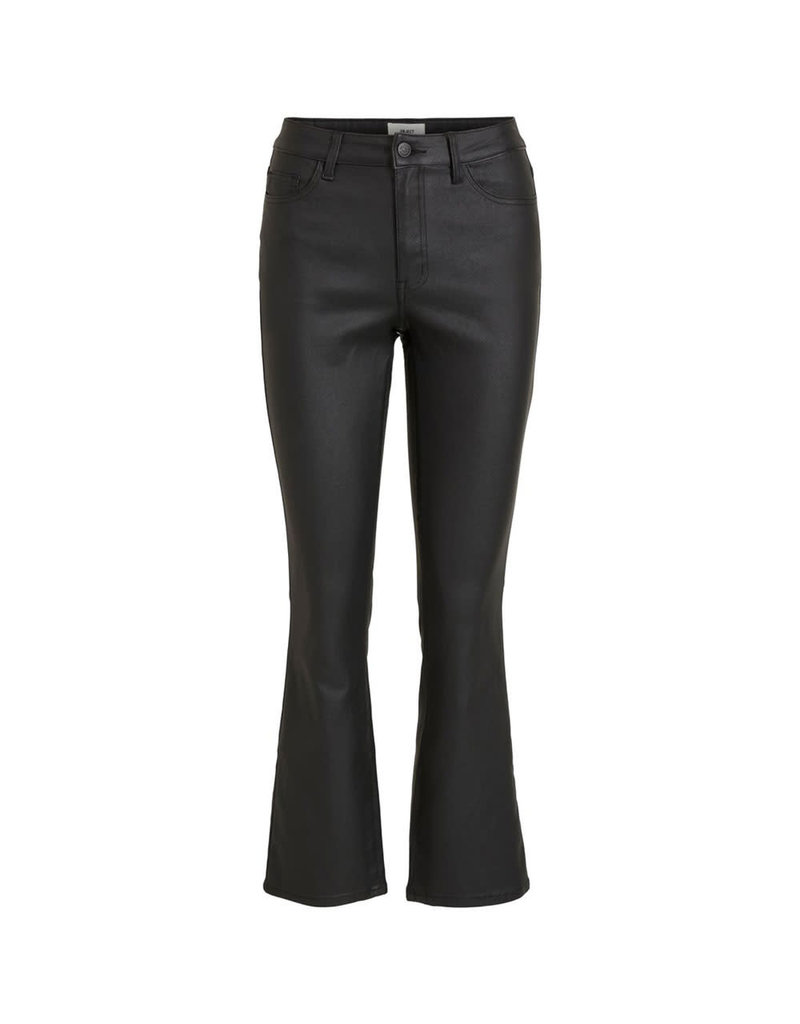 Object Coated flair jeans belle black