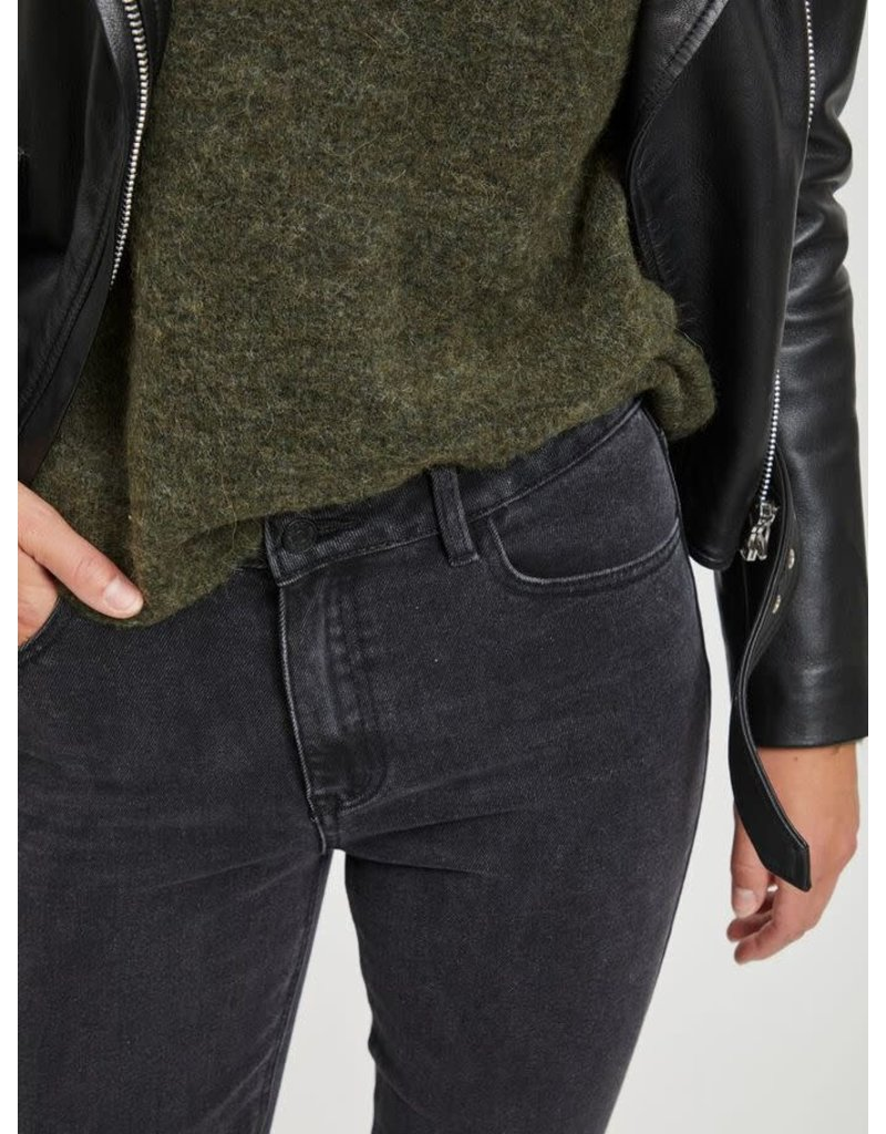Object Jeans Connie cropped zwart
