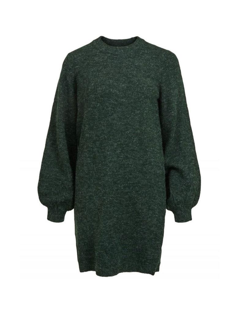 Object Dress Eve nonsia ls knit groen