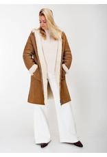 Hugo Boss Leather lammy coat camel