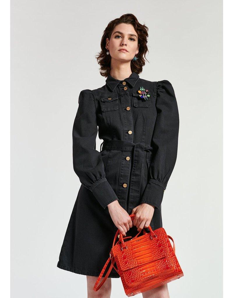 Essentiel Dress Whispera buttoned black