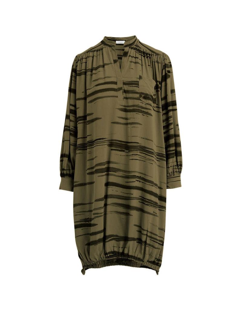 Rabens Saloner Dress Olly Wild Stripe Groen