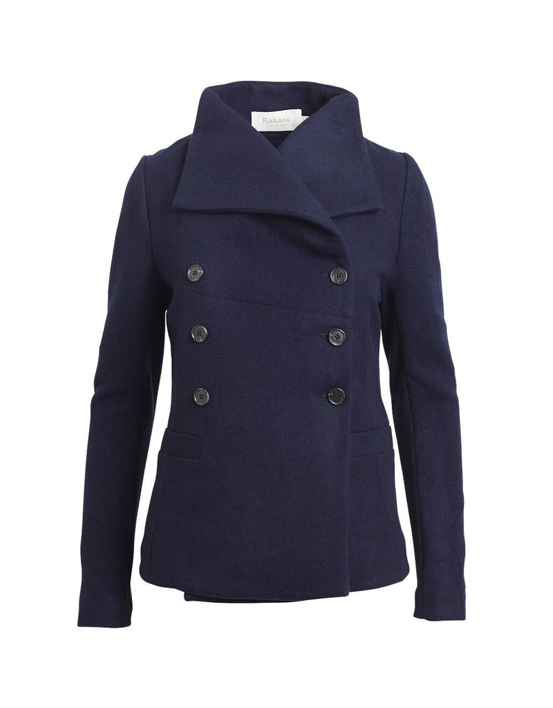 Rabens Saloner Jacket Joann felt wool slim blauw