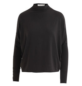 Rabens Saloner Top Beri wool jersey zwart