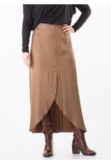 Rabens Saloner Skirt Molie solid long tulip camel
