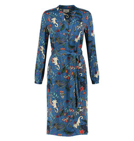 Pom Amsterdam Dress Funfair swirl dessin blauw
