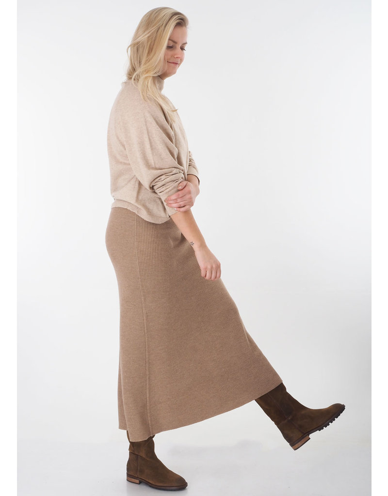 Repeat Skirt merino camel
