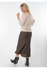 Repeat Skirt khaki silk