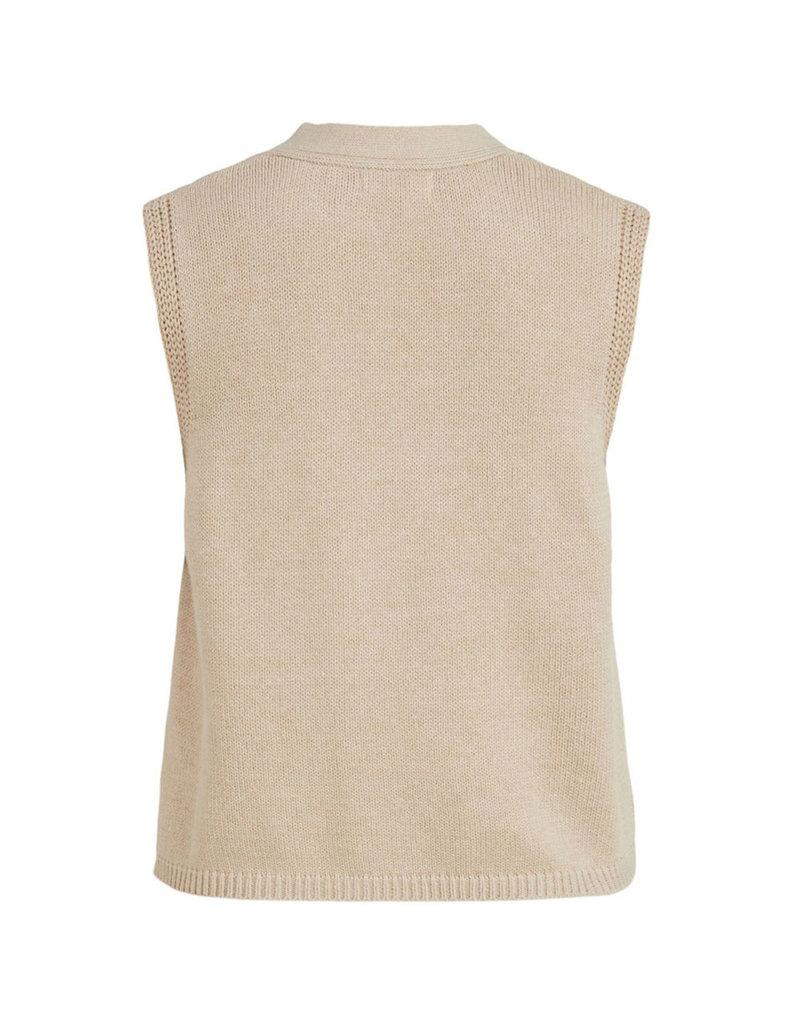 Object Knit waistcoat Leonore sandshell