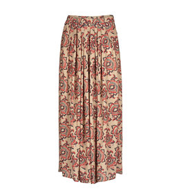 By-Bar Skirt Lien lotus print