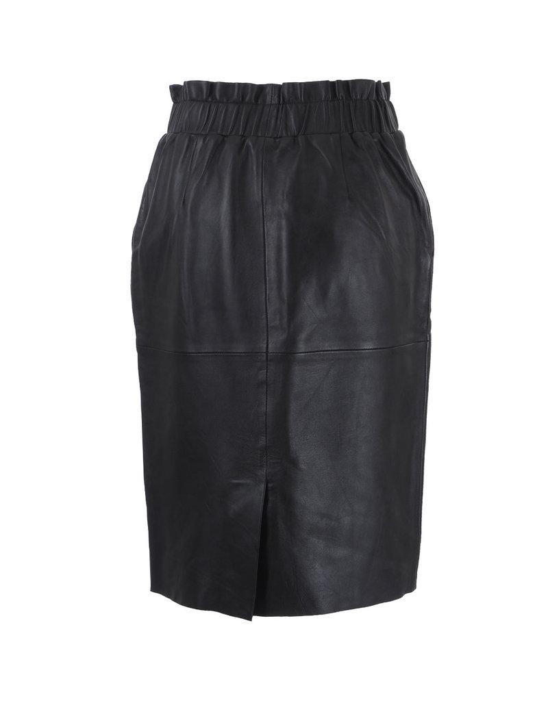 Penn&Ink N.Y. Leather Skirt black