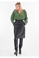 Penn&Ink Leather Skirt black