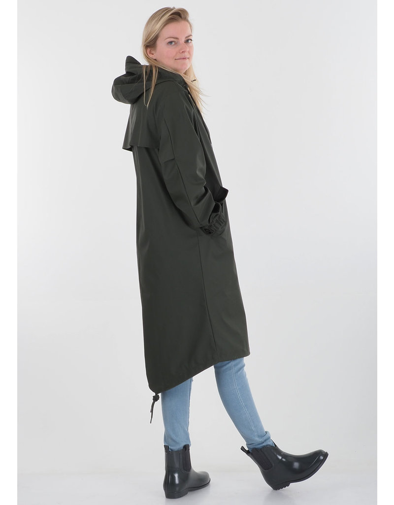Rains Parka Fishtail Green