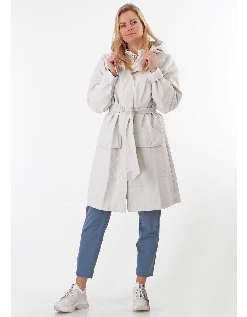 Rains Belt Jacket Off white
