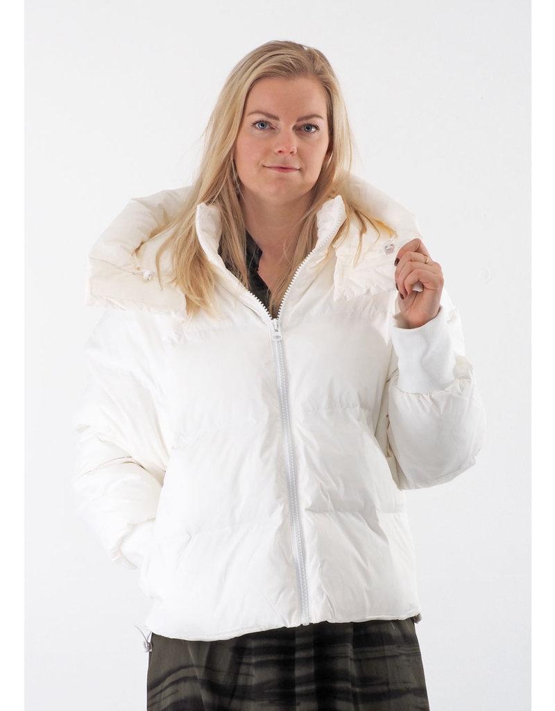 Rains Boxy Puffer Jacket Wit