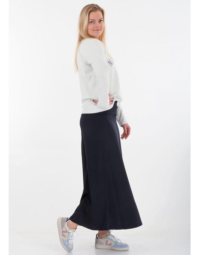 Penn&Ink Sweater kiezelgrijs/lichtgroen