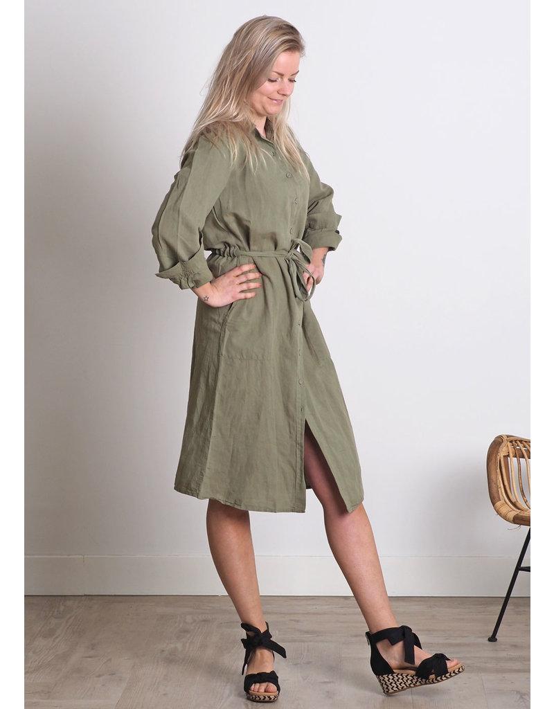 Aimee Dress Cato groen