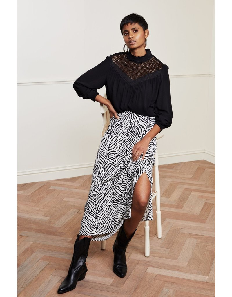 Fabienne Chapot Skirt Laurie Cream/black