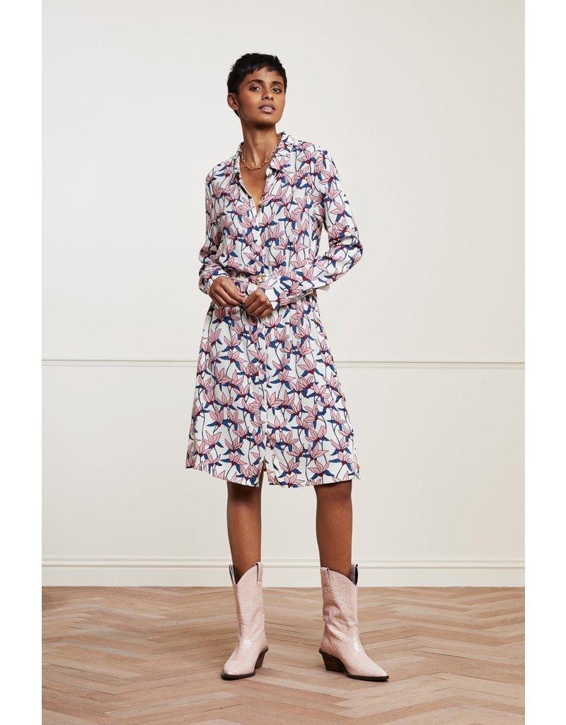 Fabienne Chapot Dress Hayley Cream/trip