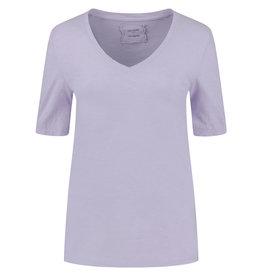 Be Pure T-shirt 12559 v hals Lila