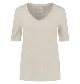 Be Pure T-shirt 12559 v-hals Sand
