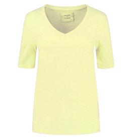 Be Pure T-shirt 12559 v-hals Yellow