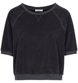 By-Bar Sweater Neva slub ORG Jet Black