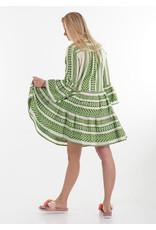 Devotion Short dress Ella wit/groen