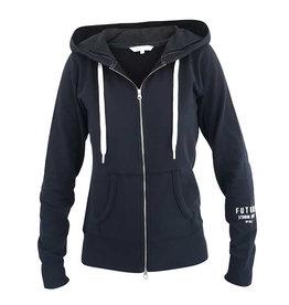 Blue Sportswear Jacket Feline hood D.navy