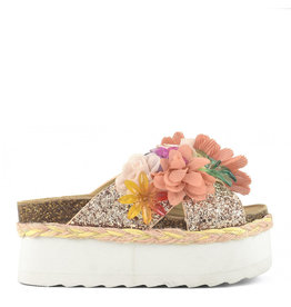 Colors of California Sandal Bes m.flowers coral