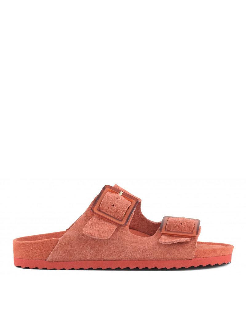 Colors of California Sandal s.Bio 2 buckles Red