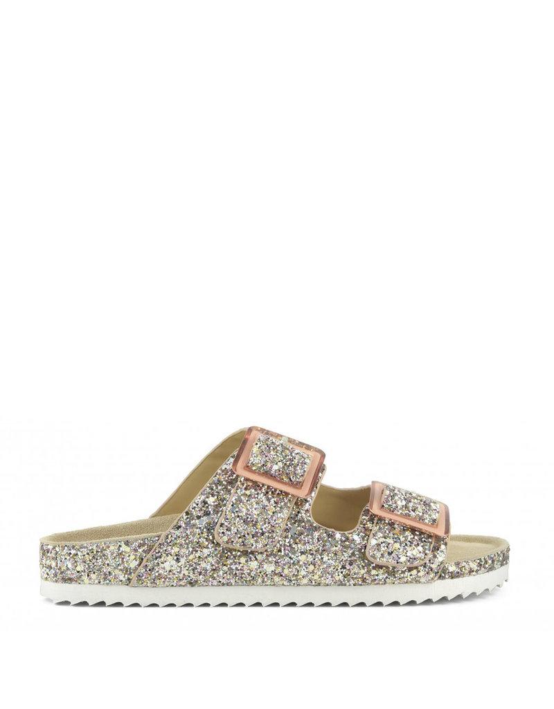 Colors of California Sandal glitter Bio Buck Pink