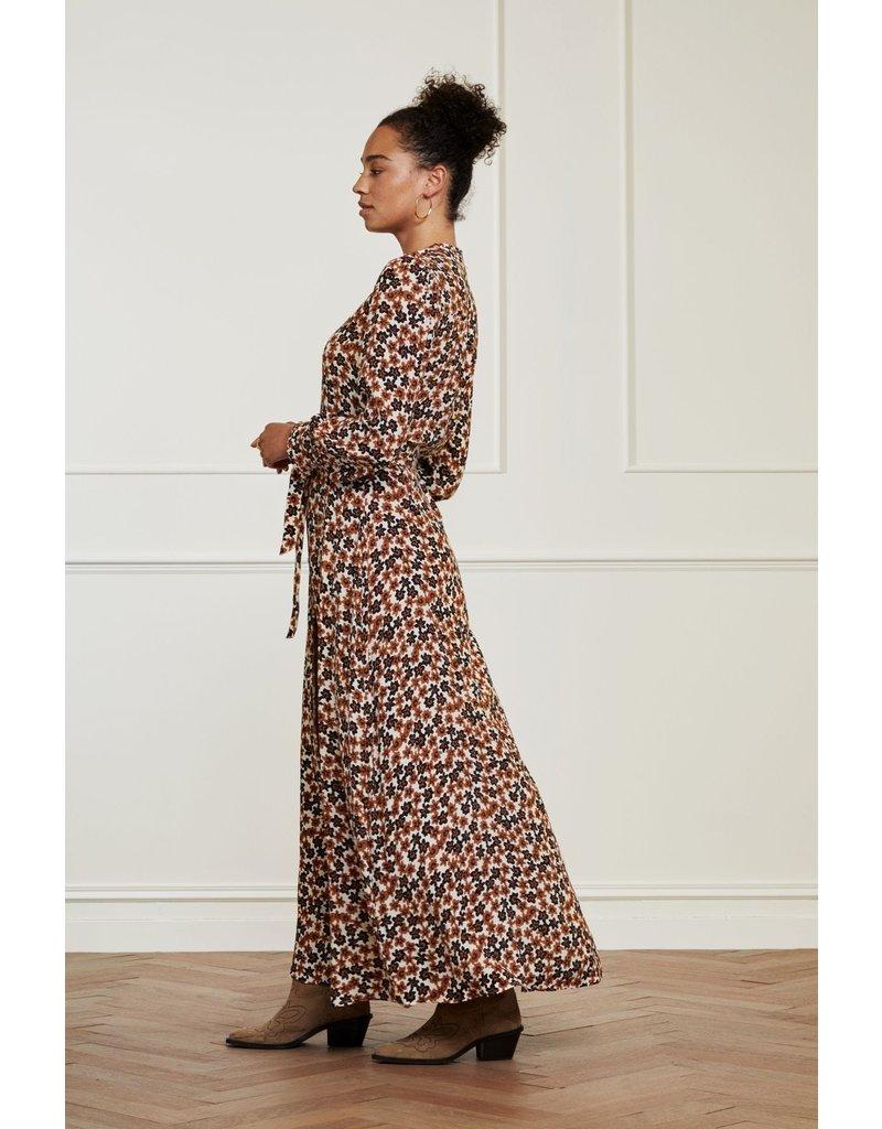Fabienne Chapot Dress Dorinda Cream wh/cognac