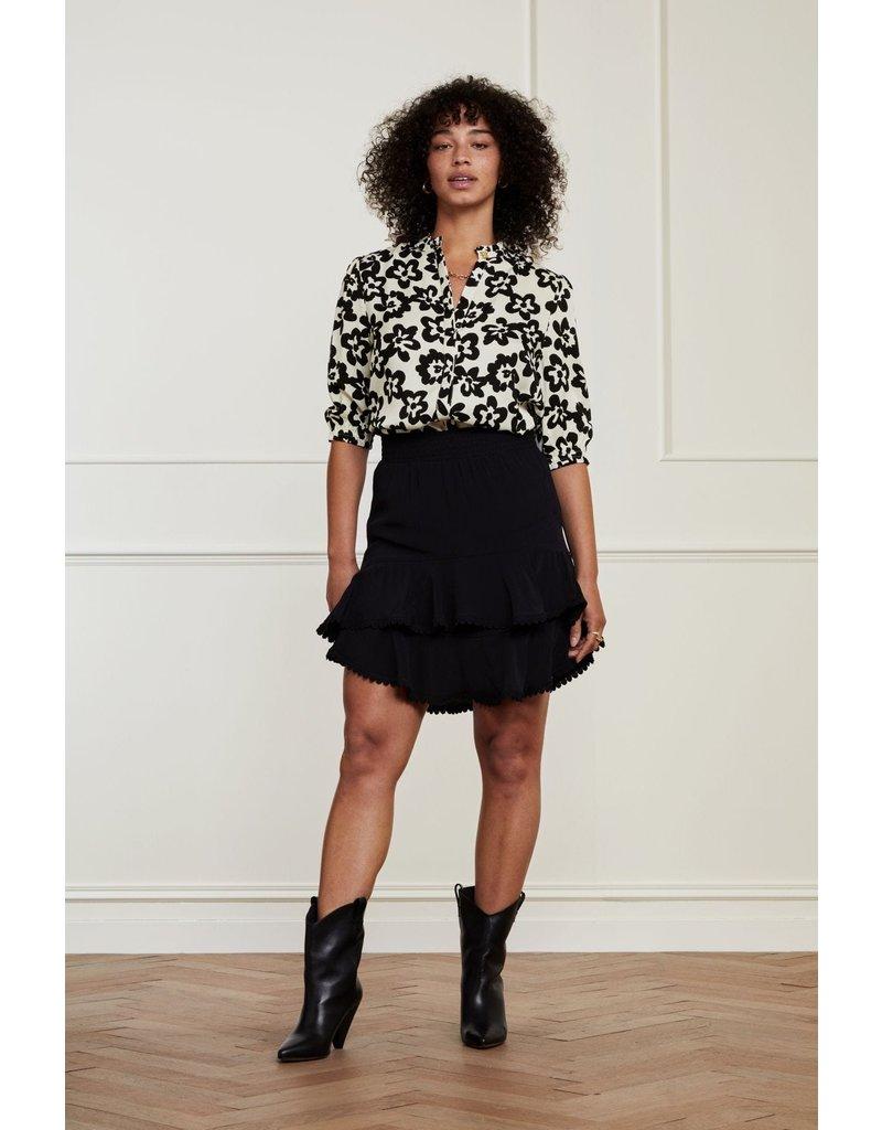 Fabienne Chapot Blouse Kim Cream wh/black