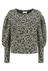 Pom Amsterdam Sweater Khaki Green Shimmer