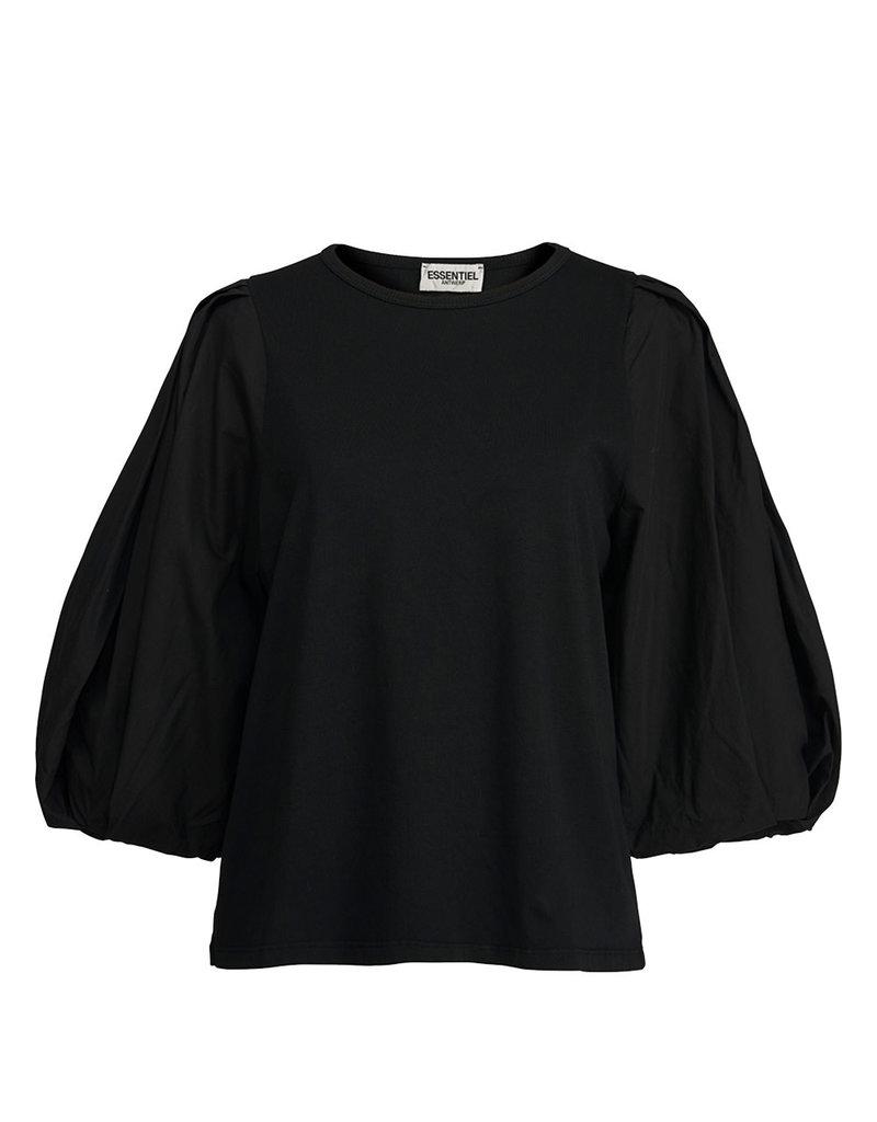 Essentiel T-shirt Apero Poplin Black