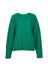 Essentiel Sweater Agatti cable Green m.