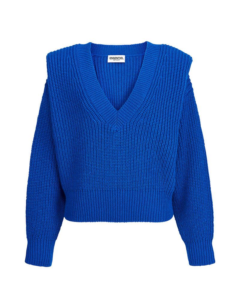 Essentiel Sweater Almenara v-neck K.blue