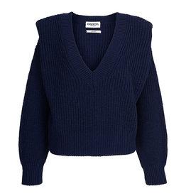 Essentiel Sweater Almenara v-neck Army navy