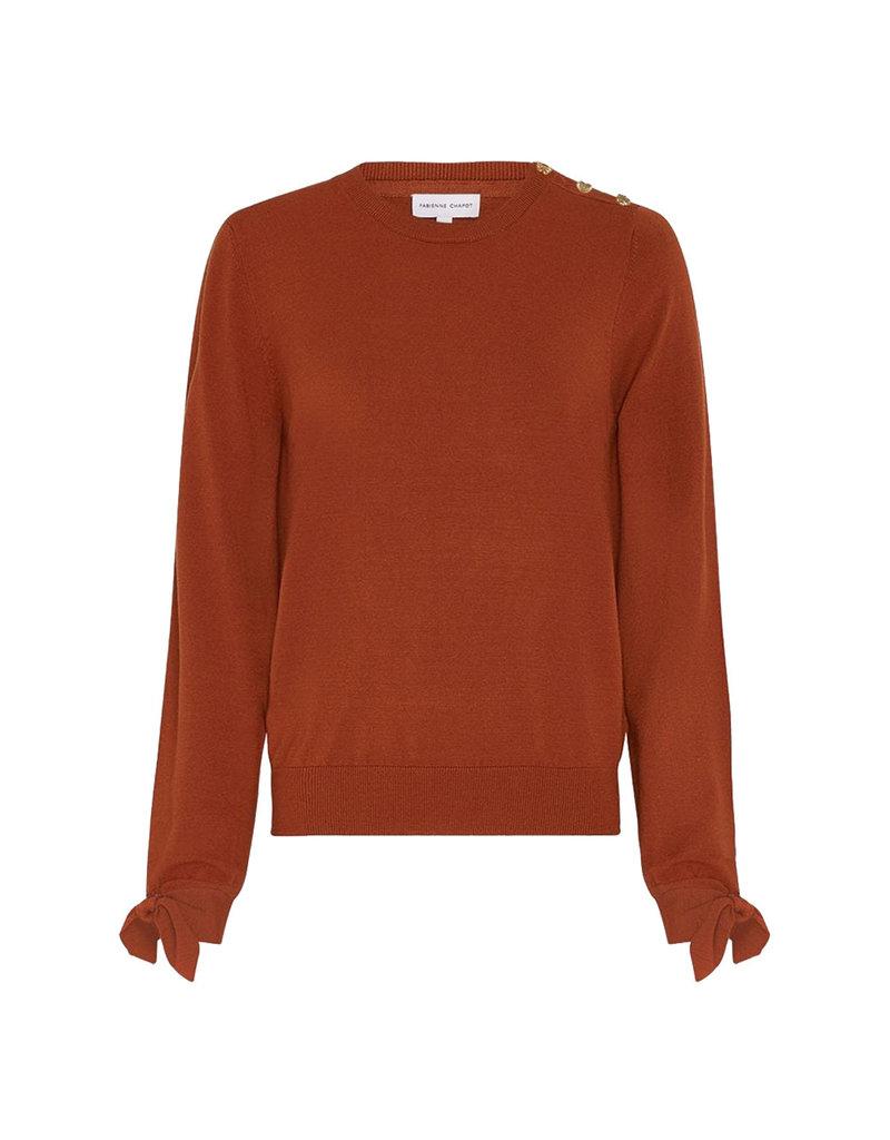 Fabienne Chapot Pullover Molly bow Cognac