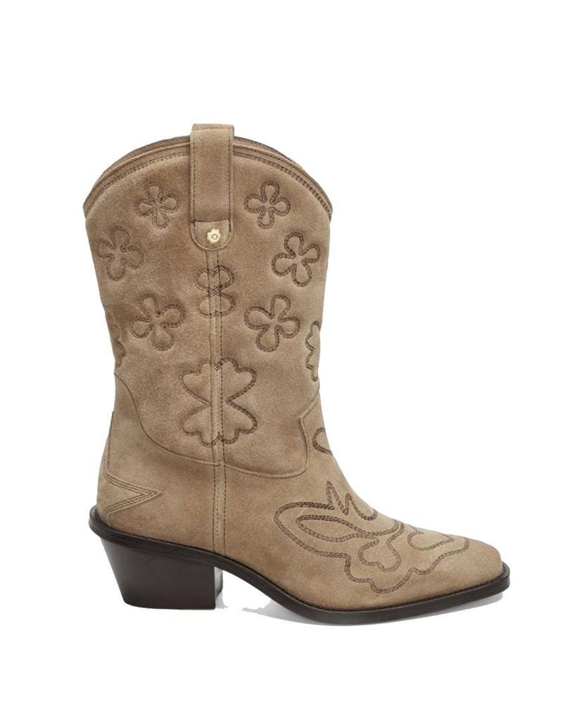 Fabienne Chapot Boot Jolly mid high Beige/D.brown