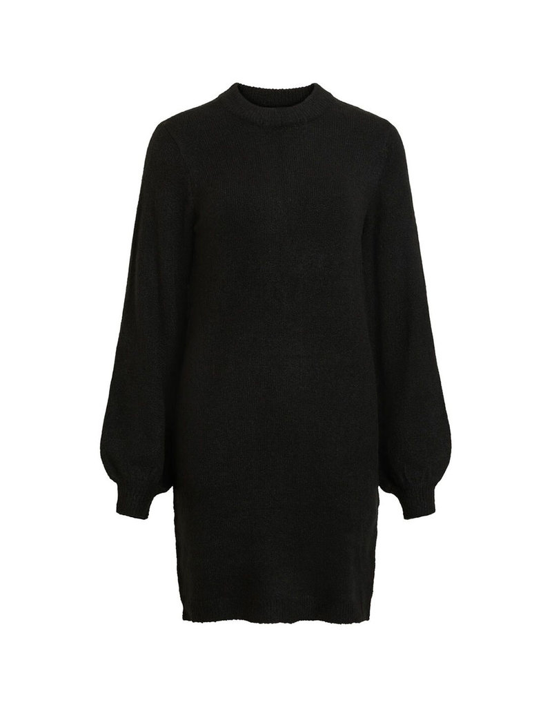 Object Eve Nonsia L/S Knit Dress Black
