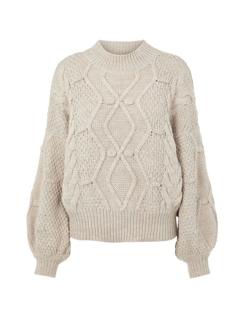 Object Kamma Cable Knit Pullover S. Grey