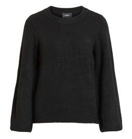 Object Eve Nonsia L/S Knit Pullover Black