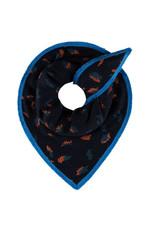 Pom Amsterdam Shawl Leopard Moody Blue