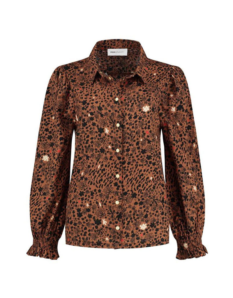 Pom Amsterdam Blouse City Charms Brown