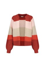 Be Pure Cardigan 21576 stripe B.orange