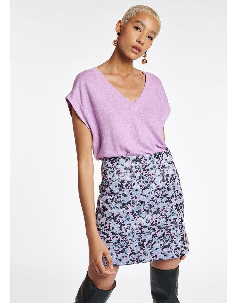 Essentiel T-shirt Abba v-neck Lilac r.