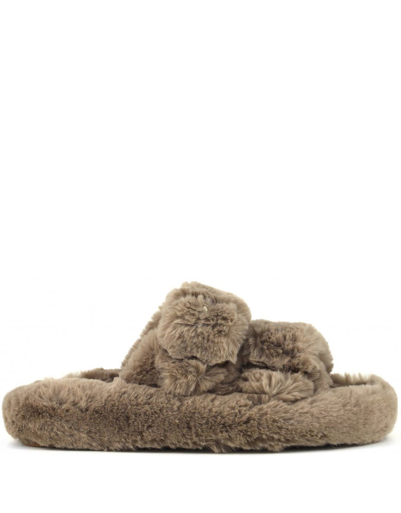 Colors of California Slipper Furry Taupe
